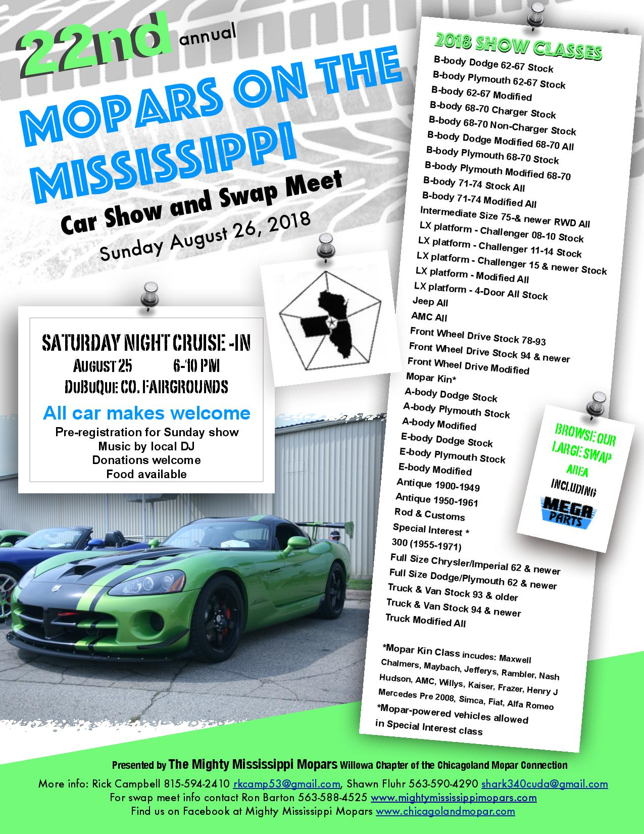 2018 Mopars on the Mississippi | Chicagoland MOPAR Club